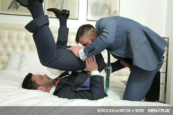 business man gay baise